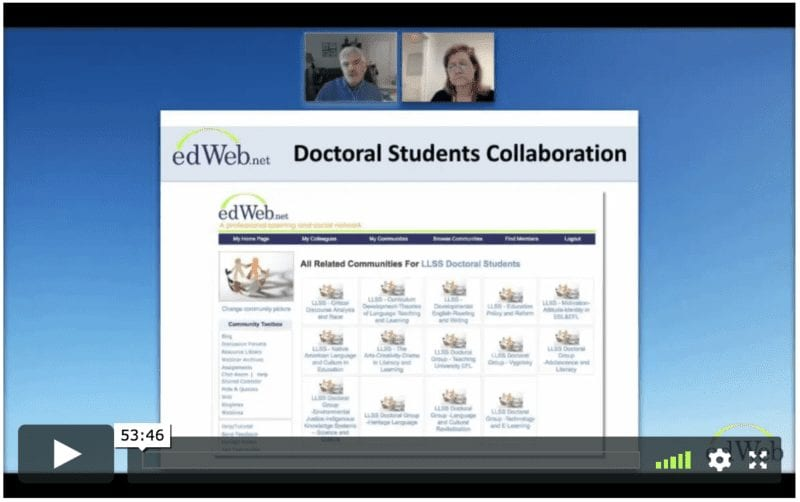 Using edWeb for Collaboration in Higher Education